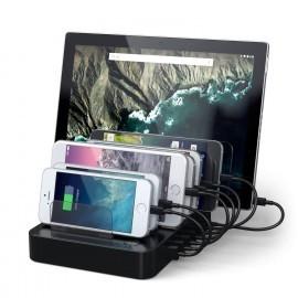 Satechi 7-Port USB Charging Station Dock (2 x Type-C Ports) zwart