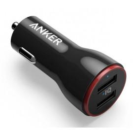 Anker PowerDrive 2 USB 2-Port Autolader zwart