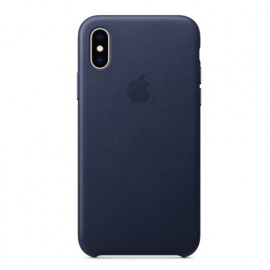 Apple leather case iPhone X / XS midnight blue