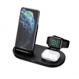 Aukey 3-in-1 Wireless Charging Station zwart