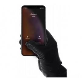 Mujjo Leather Touchscreen Gloves Size 8 zwart