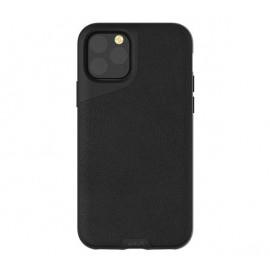 Mous Contour Leather iPhone 11 Pro Max zwart