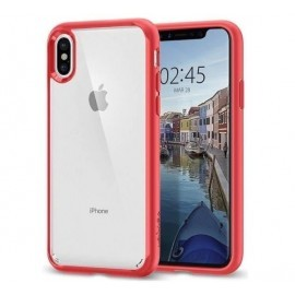 Spigen Ultra Hybrid Case iPhone X / XS rood