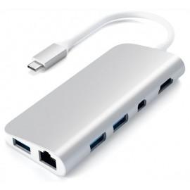 Satechi Type-C Multimedia Adapter zilver