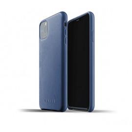 Mujjo Leather Case iPhone 11 Pro Max blauw