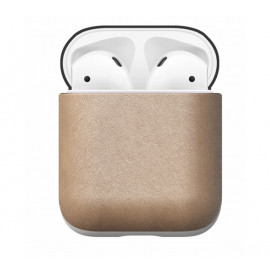Nomad Airpod Leather Case beige