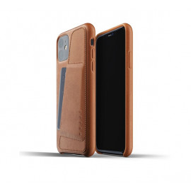 Mujjo Leather Wallet Case iPhone 11 bruin