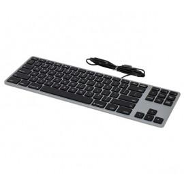 Matias Bedraad Toetsenbord QWERTY zonder Numpad voor MacBook space grey