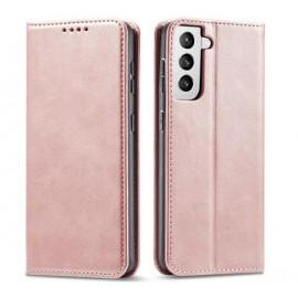 Casecentive Leren Wallet case Luxe Samsung Galaxy S21 Plus Róse Gold