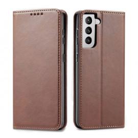 Casecentive Leren Wallet case Luxe Samsung Galaxy S21 Plus bruin