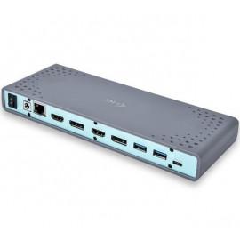 i-Tec Thunderbolt 3 / USB-C 5K/4K Universal Dualdock grijs