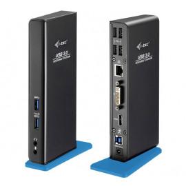 i-Tec USB-A 3.0 Dual HDMI DVI Docking Station zwart