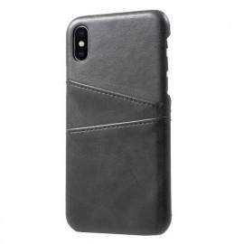 Casecentive Leren Wallet back case iPhone X / XS zwart