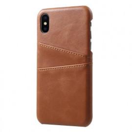 Casecentive Leren Wallet back case iPhone X / XS bruin