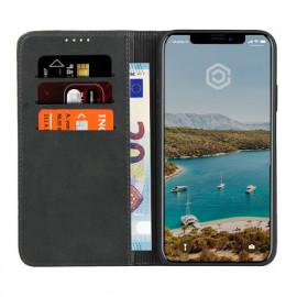 Casecentive Leren Wallet case iPhone XR zwart