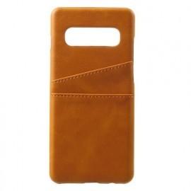 Casecentive Leren Wallet back case Galaxy S10 bruin