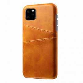 Casecentive Leren Wallet back case iPhone 11 Pro tan