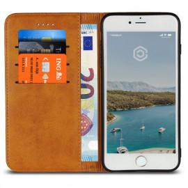 Casecentive Leren Wallet case iPhone 7 / 8 / SE 2020 tan