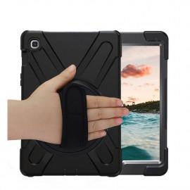 Casecentive Handstrap Hardcase met handvat Galaxy Tab S5E 10.5 zwart