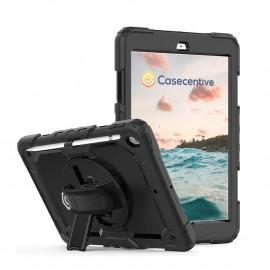 Casecentive Handstrap Pro Hardcase met handvat iPad 10.2 2021 (2019 / 2020) zwart