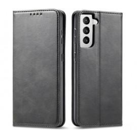 Casecentive Leren Wallet case Luxe Samsung Galaxy S21 Plus zwart