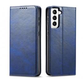 Casecentive Leren Wallet case Luxe Samsung Galaxy S21 Plus blauw