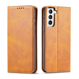 Casecentive Leren Wallet case Luxe Samsung Galaxy S21 tan