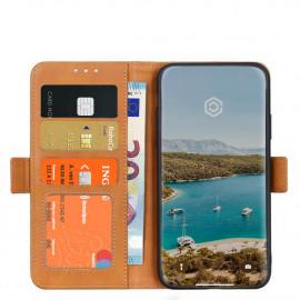 Casecentive Magnetische Leren Wallet case iPhone 12 Mini tan