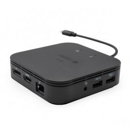 i-Tec Thunderbolt 3 Travel Dock Dual 4K Display zwart