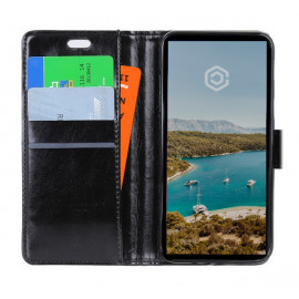 Casecentive Leren Wallet Case iPhone XS Max zwart