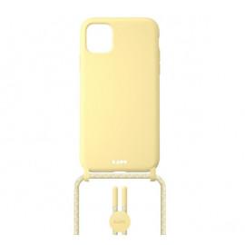 Laut Pastels case met koord iPhone 12 Mini geel