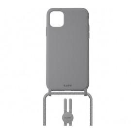Laut Pastels case met koord iPhone 12 / iPhone 12 Pro grijs