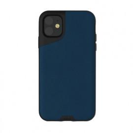 Mous Contour Leather iPhone 11 blauw