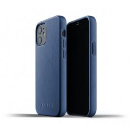 Mujjo Leather Case iPhone 12 Mini blauw