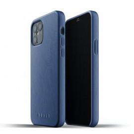 Mujjo Leather Case iPhone 12 / iPhone 12 Pro blauw