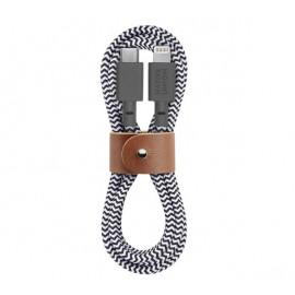 Native Union Kevlar Belt USB-C naar Lightning kabel 1.2m zebra
