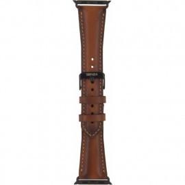 Senza Desire Leather Strap Apple Watch 38 / 40 mm cognac