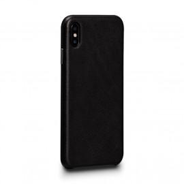 Sena Deen Leatherskin Snap On Case iPhone X / XS zwart