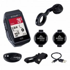 Sigma Rox 11.1 GPS fietscomputer zwart HR + CAD/Snel Sensor Set