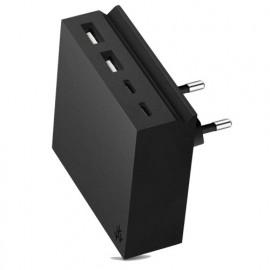 usbepower HIDE Mini+ 27W 4-in-1 wall charger zwart